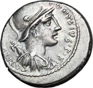 obverse: P. Fonteius P.f. Capito. AR Denarius, 55 BC