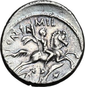 reverse: P. Fonteius P.f. Capito. AR Denarius, 55 BC