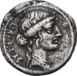 obverse: M. Junius Brutus.AR Denarius, 54 BC