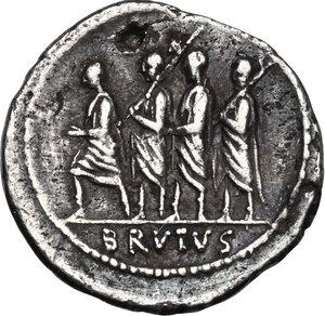 reverse: M. Junius Brutus.AR Denarius, 54 BC