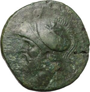 obverse: Bruttium, The Brettii. AE Double Unit, circa 214-211 BC