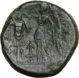 reverse: Bruttium, The Brettii. AE Double Unit, circa 214-211 BC