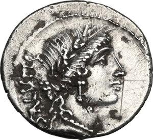 obverse: Man. Acilius Glabrio.AR Denarius, 49 BC