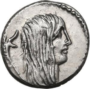 obverse: L. Hostilius Saserna.AR Denarius, 48 BC