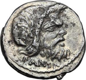obverse: C. Vibius C. f. Pansa Caetronianus.AR Denarius, 48 BC