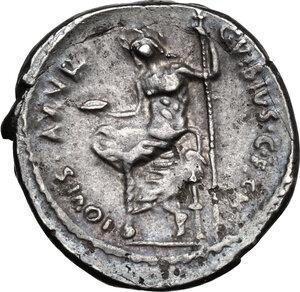 reverse: C. Vibius C. f. Pansa Caetronianus.AR Denarius, 48 BC