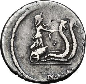 reverse: C. Vibius C. f. C. n. Caetronianus.AR Denarius, 48 BC
