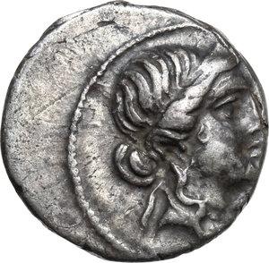 obverse: Julius Caesar.AR Denarius, 47-46 BC