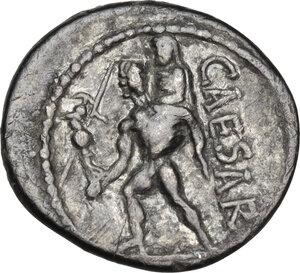 reverse: Julius Caesar.AR Denarius, 47-46 BC