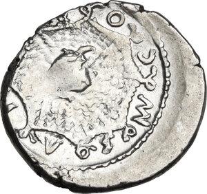 reverse: Mn. Cordius Rufus. AR Denarius, 46 BC