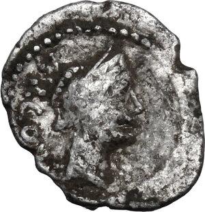 obverse: Mn. Cordius Rufus.AR Sestertius, 46 BC