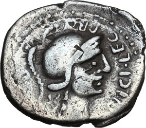 obverse: Pompey the Great.AR Denarius, Spain, 46-45 BC
