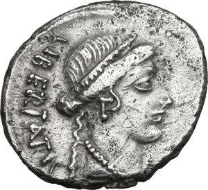 obverse: Lollius Palicanus. AR Denarius, 45 BC