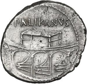 reverse: Lollius Palicanus. AR Denarius, 45 BC