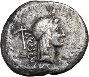 obverse: L.Valerius Acisculus.AR Denarius, 45BC