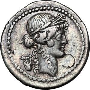 obverse: P. Clodius M.f. Turrinus.AR Denarius, 42 BC