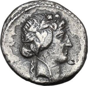 obverse: C. Vibius Varus.AR Denarius, 42 BC