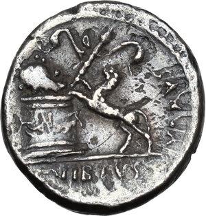 reverse: C. Vibius Varus.AR Denarius, 42 BC