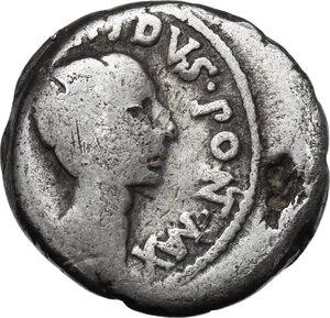 obverse: M.Aemilius Lepidus and Octavian.AR Denarius, 42 BC, Italy