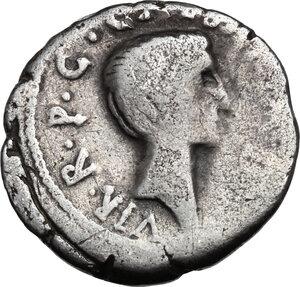 reverse: M.Aemilius Lepidus and Octavian.AR Denarius, 42 BC, Italy