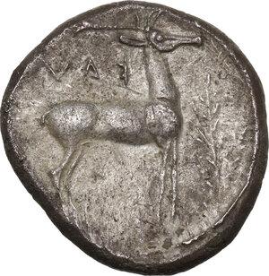 reverse: Bruttium, Kaulonia. AR Stater, 475-425 BC