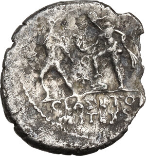 reverse: Sextus Pompey. AR Denarius, Sicily, 42-40 BC