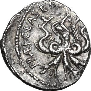 reverse: Sextus Pompeius.AR Denarius, 37-36 BC, Sicily