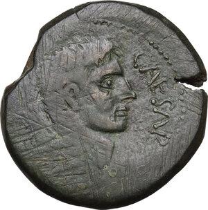 obverse: Octavian. Bronze, 38 BC, Italy