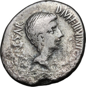 obverse: Octavian.AR Denarius, 36 BC