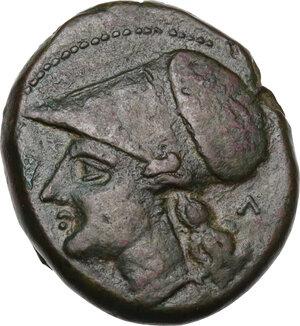 obverse: Bruttium, Locri Epizephyrii. AE 23.5 mm. period of Pyrrhus, c. 280-275 BC