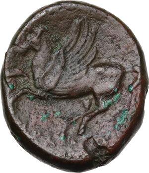 reverse: Bruttium, Locri Epizephyrii. AE 23.5 mm. period of Pyrrhus, c. 280-275 BC