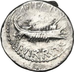 obverse: Mark Antony.AR Denarius, 32-31 BC