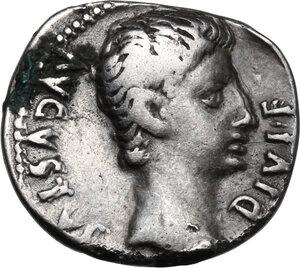 obverse: Augustus (27 BC - 14 AD) . AR Denarius, 15-13 or 12 BC