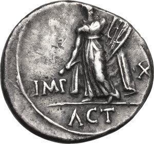 reverse: Augustus (27 BC - 14 AD) . AR Denarius. Lugdunum mint. Struck 15 BC