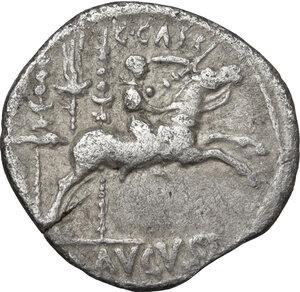 reverse: Augustus (27 BC - 14 AD).AR Denarius, Lugdunum mint. Struck 8-7 BC