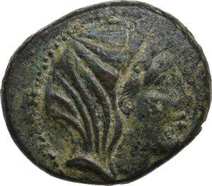 obverse: Bruttium, Petelia. AE 20.5 mm, late 3rd century BC
