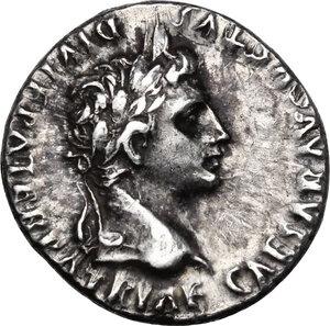 obverse: Augustus (27 BC - 14 AD).AR Denarius, Lugdunum mint. Struck 2 BC - 4 AD