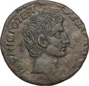 obverse: Augustus (27 BC - 14 AD).AE As, 15 BC