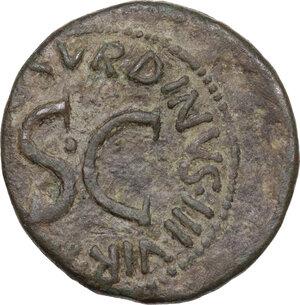 reverse: Augustus (27 BC - 14 AD).AE As, 15 BC