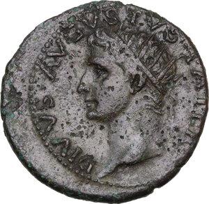 obverse: Divus Augustus (died 14 AD).AE As, struck under Tiberius, c. 22-30 AD
