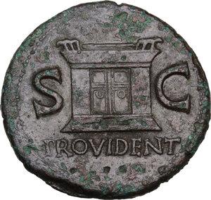reverse: Divus Augustus (died 14 AD).AE As, struck under Tiberius, c. 22-30 AD