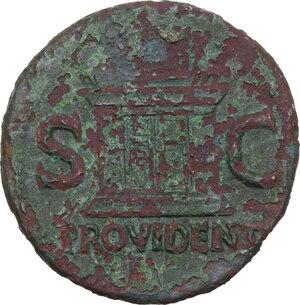 reverse: Divus Augustus (died 14 AD).AE As. Struck under Tiberius, c. 22-30 AD