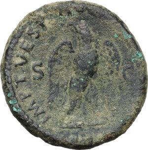 reverse: Divus Augustus (died 14 AD).AE As, struck under Titus, 80-81 AD