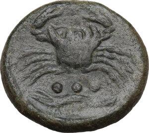 reverse: Akragas. AE Tetras, 425-406 BC