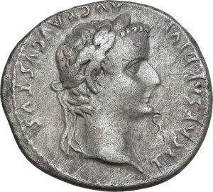 obverse: Tiberius (14-37 AD).AR Denarius, Tribute Penny type. Lugdunum mint, 18-35 AD