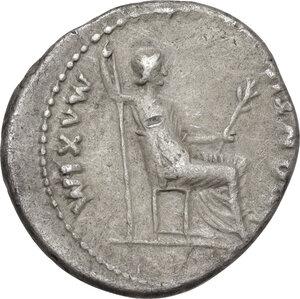 reverse: Tiberius (14-37 AD).AR Denarius, Tribute Penny type. Lugdunum mint, 18-35 AD