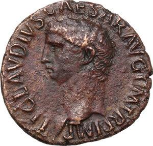 obverse: Claudius (41-54).AE As, circa 42-43 AD