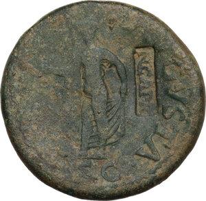 reverse: Claudius (41-54).AE Sestertius, struck 42-43 AD, countermarked under Nero