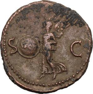 reverse: Nero (54-68).AE As, Rome mint