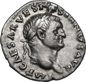 obverse: Vespasian (69-79 AD).AR Denarius, Rome mint, 70 AD